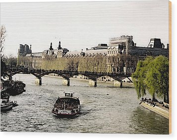 La Seine Wood Print by John Bradburn