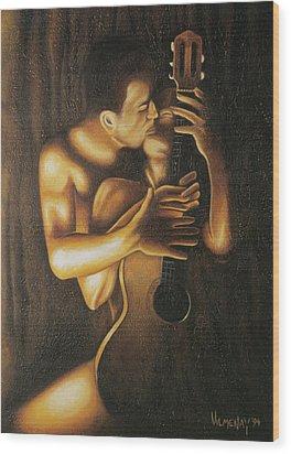 La Serenata Wood Print by Arturo Vilmenay