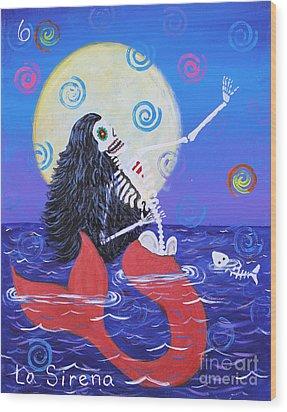 La Sirena Wood Print