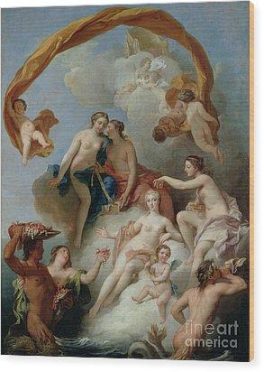 La Toilette De Venus Wood Print by Francois Lemoyne