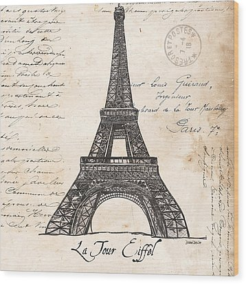 La Tour Eiffel Wood Print by Debbie DeWitt