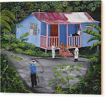 La Vida En Las Montanas De Moca Wood Print by Luis F Rodriguez