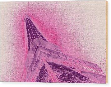 La Vie En Rose Wood Print by Lucie