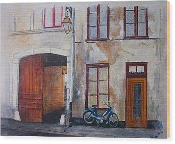 La Vieille Maison Wood Print by Victoria Heryet