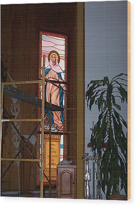 La Virgen Milagrosa Wood Print