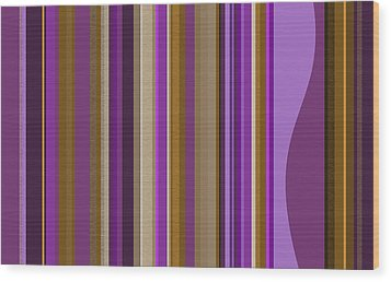 Large Purple Abstract - Two Wood Print