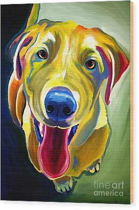 Lab - Spencer Wood Print by Alicia VanNoy Call
