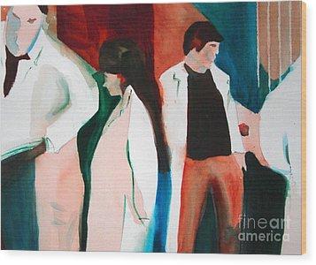 Lab Coats Wood Print