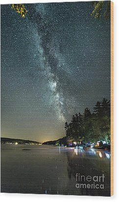 Labor Day Milky Way In Vacationland Wood Print