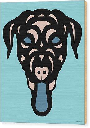Labrador Dorianna - Dog Design - Island Paradise, Pale Dogwood,  Niagara Blue Wood Print