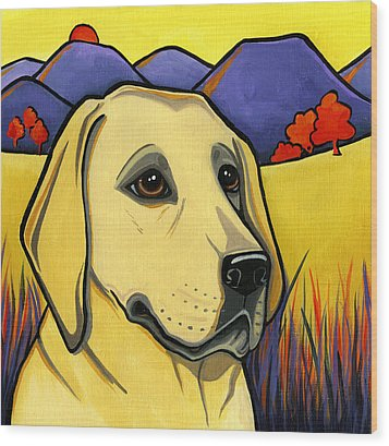 Labrador Wood Print by Leanne Wilkes
