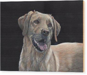 Labrador Portrait Wood Print