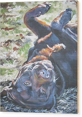Labrador Retriever Chocolate Fun Wood Print by Lee Ann Shepard
