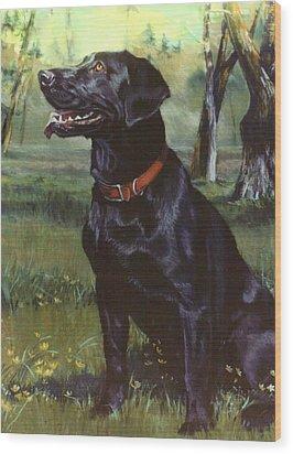 Labrador Retriever Wood Print by Jean Hildebrant