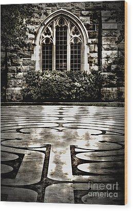 Labyrinth Wood Print