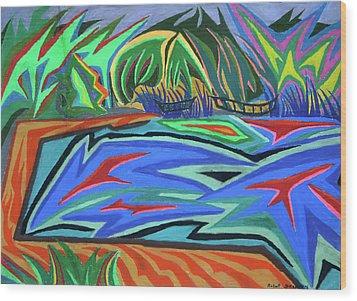 Lac Aura Wood Print by Robert SORENSEN