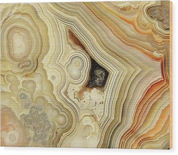 Lace Agate  Wood Print by Bruce Ritchie
