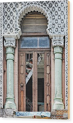 Lace Facade Wood Print