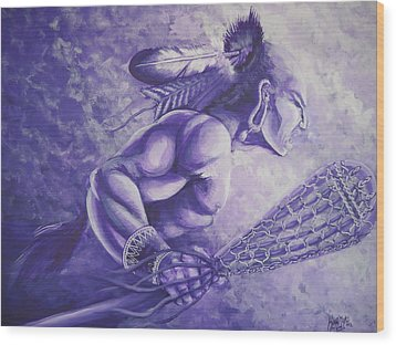 Lacrosse  Wood Print by Curtis Mitchell
