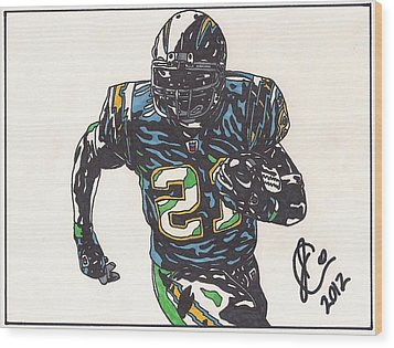 Ladainian Tomlinson 1 Wood Print by Jeremiah Colley