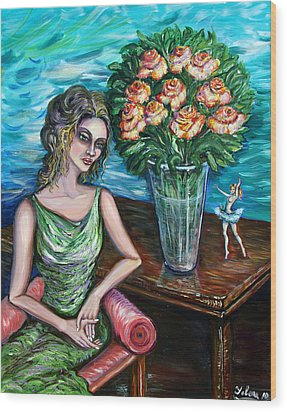 Lady Ballerina Wood Print by Yelena Rubin