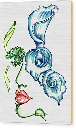 Lady Calli Lilly Wood Print by Judith Herbert