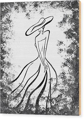 Lady Charm Wood Print by Irina Sztukowski