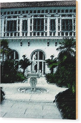 Lady Fountain Wood Print by Shirley Heyn