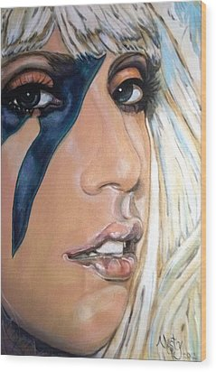 Lady Gaga 1 Wood Print by Misty Smith