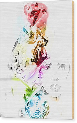 Lady Gaga Wood Print by The DigArtisT
