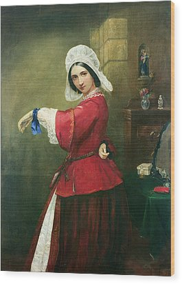 Lady In French Costume Wood Print by Edmund Harris Harden