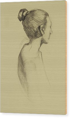 Lady In Profile Wood Print by Susan Fowler
