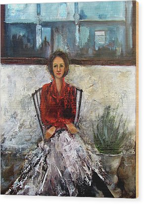 Lady In Waiting Wood Print by Mary St Peter