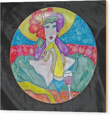 Lady In Waiting Wood Print by Mickie Boothroyd