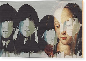 Wood Print featuring the mixed media Lady Madonna Children At My Feet  by Paul Lovering