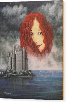 Lady Of The Lake Wood Print by Bob Patterson