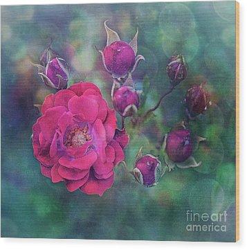Lady Rose Wood Print