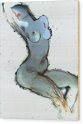 Wood Print featuring the painting Lady Sophia - Female Nude by Carolyn Weltman