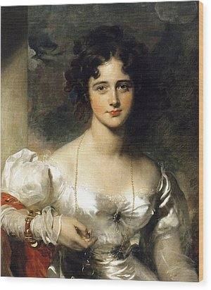Lady Wood Print by Thomas Lawrence
