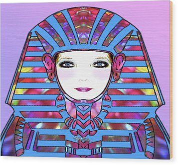 Wood Print featuring the photograph Lady Tut #191 by Barbara Tristan