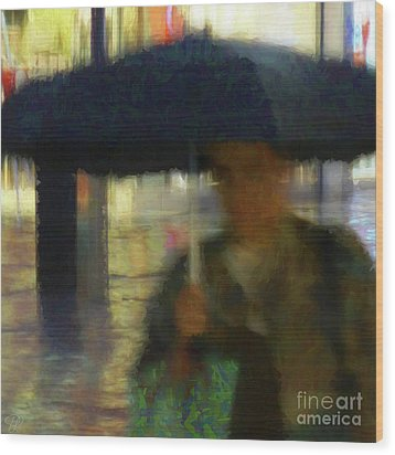 Wood Print featuring the photograph Lady With Umbrella by LemonArt Photography