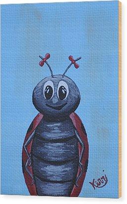 Ladybug's School Picture Wood Print by Kerri Ertman