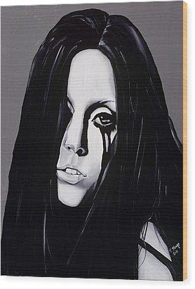 Ladygaga Wood Print by Leeann Stumpf