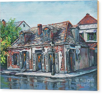 Wood Print featuring the painting Lafitte's Blacksmith Shop by Dianne Parks