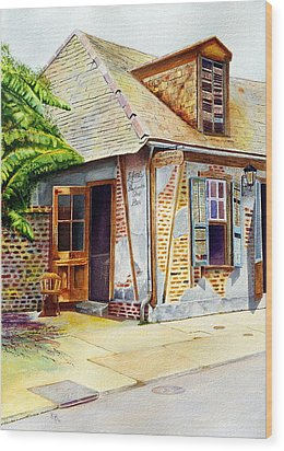 Lafittes Of New Orleans Wood Print by Karen Fleschler