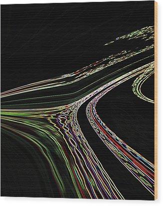 Wood Print featuring the digital art L.a.freeways by Irma BACKELANT GALLERIES