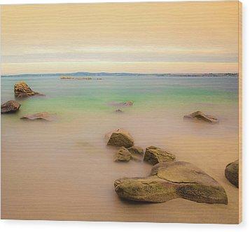 Lagon Breton Wood Print by Philippe Doucet