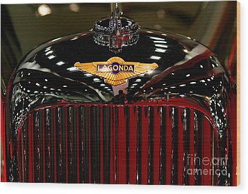 Lagonda Badge Wood Print by Wingsdomain Art and Photography