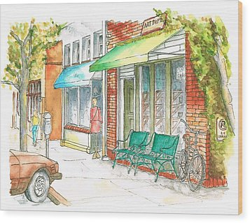 Laguna Beach Street, California Wood Print