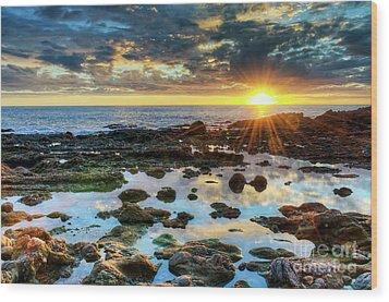 Wood Print featuring the photograph Laguna Beach Tidepools by Eddie Yerkish